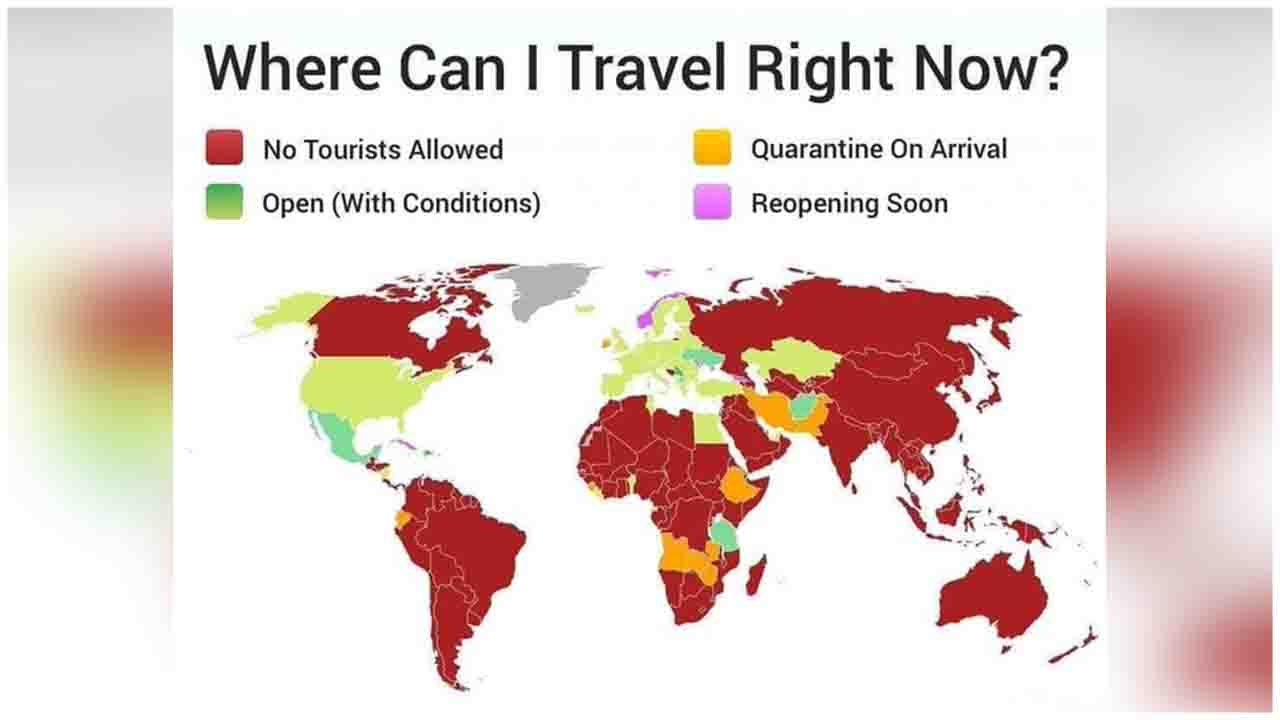 90% countries not allowing to tourist